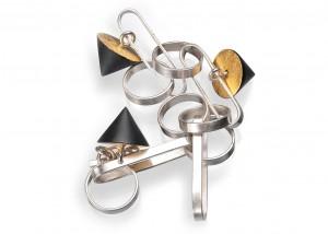 Armschmuck | Ebenholz | 935 Silber | Blattgold