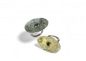 Ringe | Emaille | 750 Gold | 935 Silber | Smaragd | Rubin