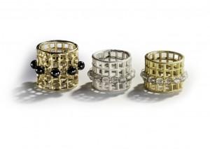 Ringe | 750 Gold | 935 Silber | Hämatit | Bergkristall