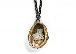 Halsschmuck | Bronce | 935 Silber | Bergkristall |Schwarzwälder Uhrenkette