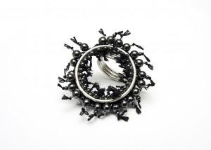 Ring | 935 Silber | Hämatit | Bergkristall