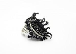 Ring | 935 Silber | Hämatit