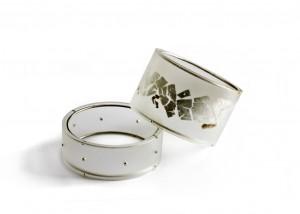 Armschmuck | Acryl | 935 Silber | Blattsilber